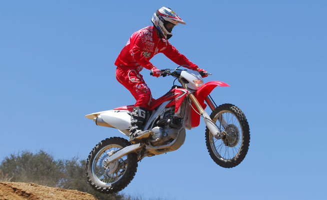 While the CRF's engine is brawny, it isn't as snappy as we'd like, its user friendly nature make it easy to ride fast. It's also CARB- and EPA-certified, so you can ride on public OHV land anywhere, anytime.