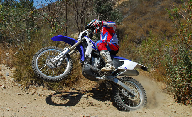 The Yamaha WR450F offers plenty of snap for racing in a light-feeling, quick-steering chassis with excellent suspension. It's the consummate playbike and an excellent platform for off-road racing.
