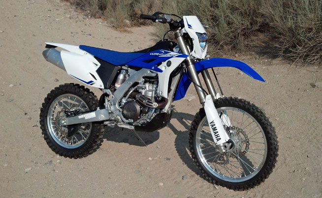 The WR450F is an excellent off-road choice for aspiring racers and weekend warriors alike.