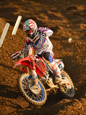Justin Barcia had a great race in Moto 2, finishing fourth overall, but he was caught up in a first-turn crash in Moto 3 and was unable to regain enough spots to tilt the points standings in favor of Team USA. PHOTO BY STEVE COX