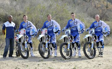 Argubright (90) was selected as Husqvarna's resurrected factory off-road team in 2014. The four-man squad also included Russell Bobbitt (23), Andrew DeLong (10) and Mike Brown (3). PHOTO COURTESY OF HUSQVARNA MOTORCYCLES GmbH.