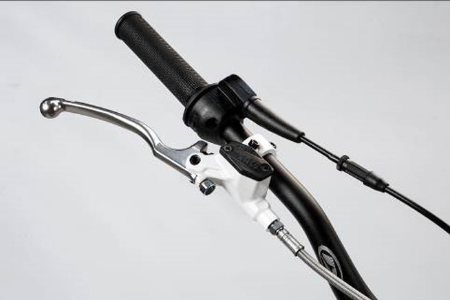 The brake master cylinder on the EVO Factory Edition differs from the stock Beta trials bikes.