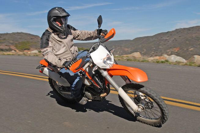 The KTM pulled down excellent fuel mileage, and its larger 2.4-gallon tank gives it a substantially farther range than the Beta.