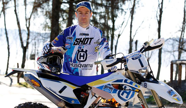 Defending Red Bull Hare Scramble Champion Graham Jarvis is looking forward to defending his crown at Erzberg, Austria, on June 1. PHOTOS COURTESY OF HUSQVARNA.
