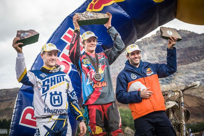 Left to right: Graham Jarvis, Jonny Walker, Andreas Lettenbichler