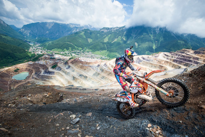 KTM's Jonny Walker of the UK scored a big win at the 20th running of the Red Bull Hare Scrambles in Erzberg, Austria, yesterday. It was Walker's second win in the prestigious event, his first coming in 2012. ALL PHOTOS COURTESY OF RED BULL CONTENT POOL.