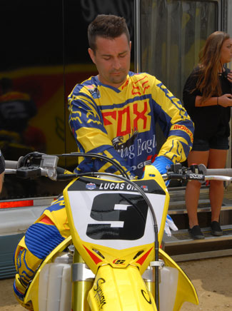 Ivan Tedesco is slated to compete aboard alongside Ken Roczen on an RCH Soaring Eagle/Jimmy John's Factory Suzuki at the Red Bull Straight Rhythm on October 10. The retired former AMA 125cc motocross and supercross champion serves as a test rider for the team. FILE PHOTO BY SCOTT ROUSSEAU.