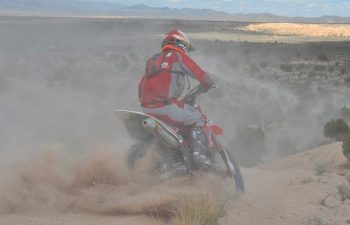 With basically no riding in four weeks after surgery to plate his clutch hand, Nick Burson knew it could be tough going, but a good start helped. Burson rode a smooth, controlled race to place fourth, and he is still staying in the hunt for the championship. If he wins the last two rounds, he wins the title.