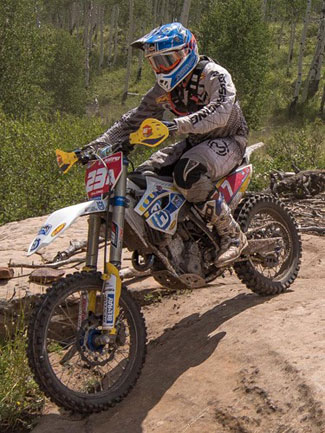 Andrew DeLong won the Snowshoe National Enduro in Colorado, Sunday. DeLong now has a 17-point lead in the AMA National Enduro Series standings with 8 of 10 rounds complete. PHOTOS BY SHAN MOORE.