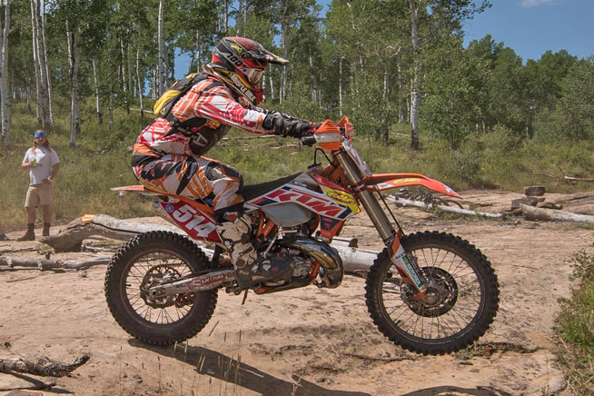 Steward Baylor Jr. finished second overall on his Factory FMF/KTM.