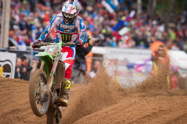 Riding in the MXGP class, Team France's Gauthier Paulin was the fastest rider of the day, winning both of his motos to help France to an easy win.