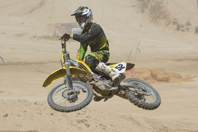 The 2015 Suzuki RM-Z450 is a much-improved package that delivers even more precise handling and better suspension than the 2014 model. PHOTOS BY SCOTT ROUSSEAU.