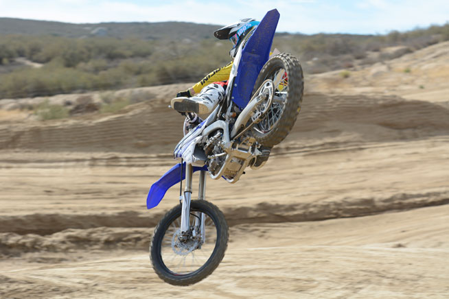 The YZF450F's brawny engine and light, flickable feel allowed DBC tester was instantly comfortable for DBC test rider Ryan Abbatoye.