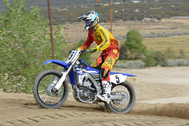 The revised KYB SSS fork and rear end took very little time to dial-in. The YZ450's suspension delivers smooth and controlled suspension action, with 12.2 inches of travel up front and 12.4 inches out back.