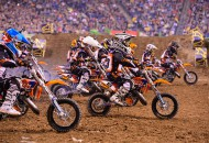 The KTM Junior Supercross Challenge is a staple of the intermission entertainment at Monster Energy AMA Supercross Series events. The 2015 KJSC schedule is now posted. PHOTO COURTESY OF KTM MOTORCYCLES.