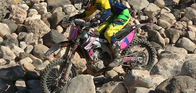 Bell excels in technical sections, and he used his line selection to his advantage to take the race lead.