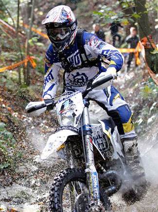 Graham Jarvis claimed another Hard Enduro victory for the Bel-Ray Husqvarna factory team at the GetzenRodeo in Germany on October 25. PHOTOS COURTESY OF HUSQVARNA MOTORCYCLES GmbH.