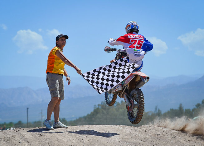 Team USA's Kailub Russell was the top American in the 2014 ISDE. Russell finished second overall to Pela Renet of France in the E2 class and third overall in the individual rider standings.