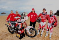 Gas Gas' 2015 Dakar Rally factory effort will rest in the hands of two riders, Gerard Farrés (second from right) and Dani Oliveras (right). PHOTOS COURTESY OF GAS GAS.