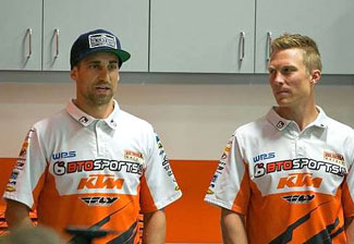 Justin Brayton (left) joins Andrew Short (right) on the BTO Sports KTM team for 2015.