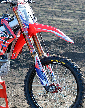 ...while Seely prefers the Showa SFF-Air fork that is available on the CRF250R.