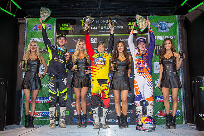 (Left to right) Tyler Bowers. Cooper Webb, Justin Hill.