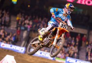 Dean Wilson will miss the rest of the Monster Energy AMA Supercross Series while he recovers from surgery to repair a torn ACL and MCL. PHOTO BY SIMON CUDBY/KTM IMAGES.