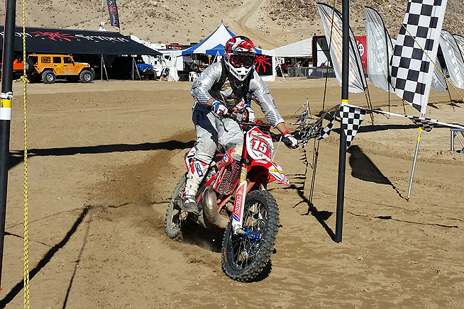 Beta USA's Max Gerston was the first Pro rider to finish the first loop, but he finished third overall in the all-important second loop.