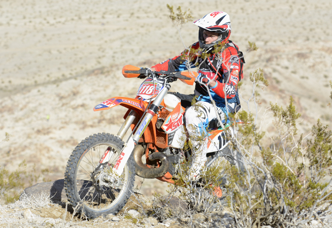SRT KTM's Cory Graffunder finished second after helping Haaker navigate the first lap. The two were neck and neck on the second lap.