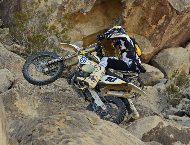 Colton Haaker rode his Rockstar Energy Husqvarna to victory at the Klim King of the Motos in the Johnson Valley OHV Area in Southern California today.