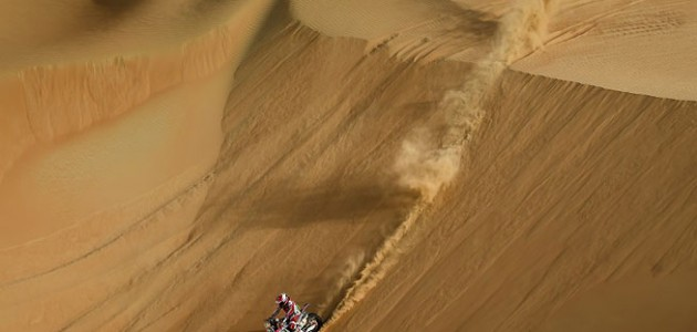 Paulo Goncalves, 2015 Abu Dhabi Desert Challenge, Stage 3. PHOTO COURTESY OF TEAM HRC.