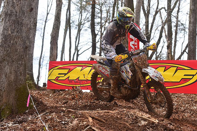 Josh Strang is currently second in the AMSOIL GNCC series standings. Strang is a North Carolina resident who would love nothing more than to stop Russell at what is considered to be the home race for both riders. PHOTO BY KEN HILL.