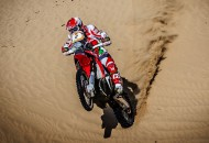 Team HRC's Paulo Goncalves won Stage 3 of the 2015 Sealine Rally in Qatar today and moved from eight overall to fourth overall in the rally with two stages remaining. PHOTO COURTESY OF TEAM HRC.