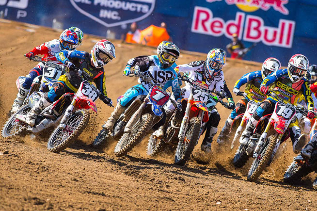 Martin (1) got a better start in Moto 2 and was able to pull away from Moto 1 winner Marvin Musquin (25) to secure the overall win.