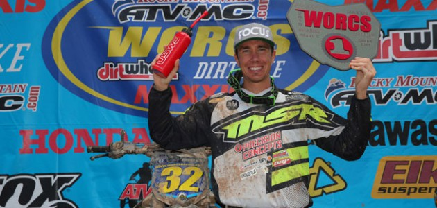 With five wins in six rounds of racing, Bell can clinch the title if things go his way at the next WORCS round iin Washington in August. PHOTO BY HARLEN FOLEY.