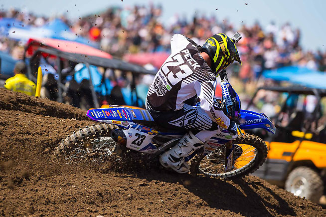 Several of the top Lucas Oil Pro Motocross Championship teams use FMF Racing exhaust systems to help power their efforts, including the Autotrader.com/Toyota/Yamaha of Weston Peick. PHOTO BY RICH SHEPHERD.