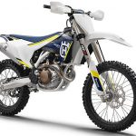 """Huysqvarna released two photos of its 2016 motocross model family today, stating that it will release full information on the """"toatally new"""" machines in August.  The 2016 FC 450 is shown here."""