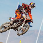 Red Bull KTM's Ryan Dungey clinched the 2015 Lucas Oil 450cc Pro Motocross Championship with a first-moto victory at Miller Motorsports Park in Tooele, Utah, Saturday. Then, just for the heck of it, he went ahead and claimed his sixth overall win of the year via a clean sweep of both motos. PHOTOS BY RICH SHEPHERD.