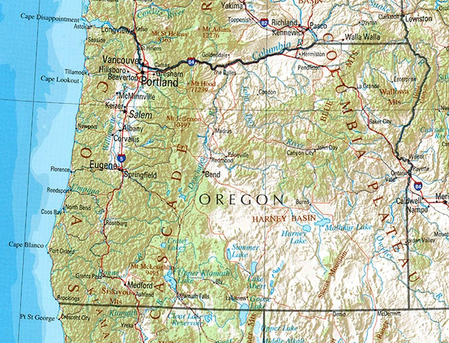 Land Use BLM Reopens Western Oregon Comment Period - Map of western oregon
