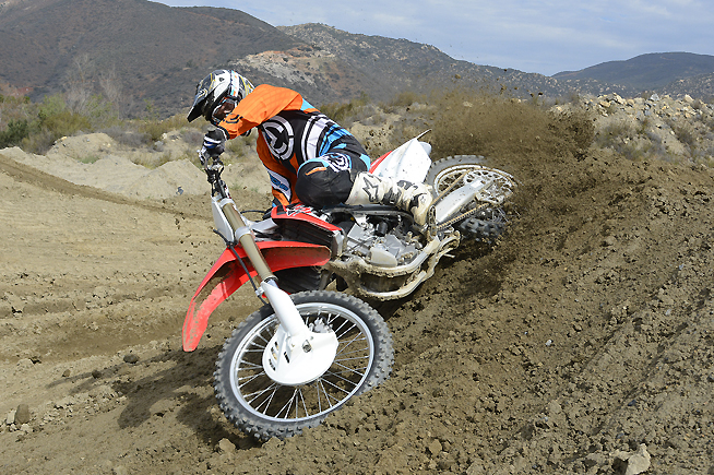 Honda's new CRF250R is much faster, thanks to its improved engine and revised suspension. We won't be shocked if it finds itself at or near the top of the 250cc motocross class in 2016.