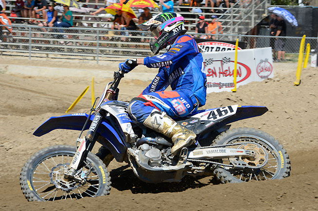 Newly crowned World MXGP Champion Romain Febvre came to Glen Helen Raceway and earned his eighth GP win of the year via 1-2 finishes, impressing the partisan American crowd with his speed and fitness level. PHOTO BY SCOTT ROUSSEAU