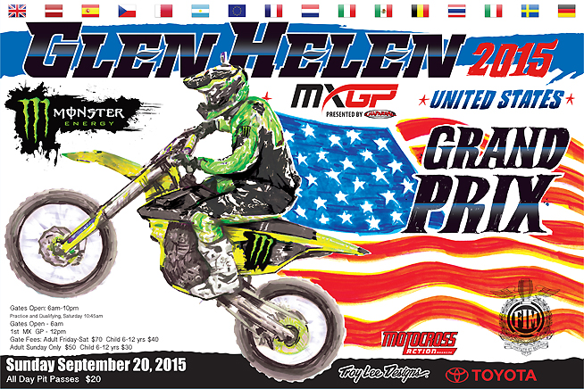 A copy of the Troy Lee Designs-painted MXGP of USA poster will be given to the first 100 attendees at Chaparral Motorsports' Fan Apprecation Night on September 18.