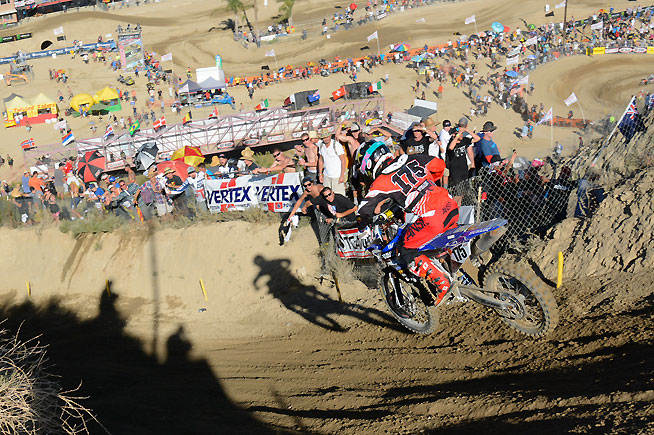 Webb was clearly the darling of the American crowd, which cheered loudly for him all the way around the Glen Helen circuit. PHOTO BY SCOTT ROUSSEAU