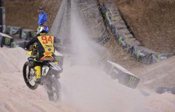 Ken Roczen posted 1-4-1 scores to claim the 2015 Monster Energy Cup. For 2016, $1 Million is on the line for anyone who can sweep all three MEC main events. PHOTO BY STEVE COX.