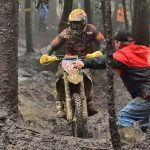 Thad Duvall trudged through the cold and wet conditions to land his first AMSOIL GNCC win of the 2015 season at the Car-Mate Mountain Ridge GNCC in Pennsylvania, Sunday. PHOTO BY KEN HILL.