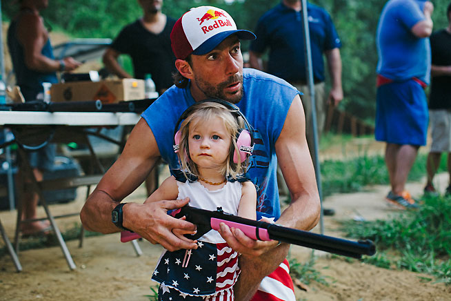 Travis Pastrana, with daughter Addy.