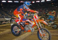 RPM/KTM's Cody Webb successfully defended  the championship with a second-place finish at the GEICO AMA EnduroCross season finale in Ontario, California, Saturday night. Webb finished second in the main event. PHOTO BY JEAN TURNER.
