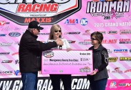 The Montgomery County Free Clinic received a donation of over $7000 to fight breast cancer at the Ironman GNCC event, with additional funding raising the total donation to $8277 by GNCC racers and fans. PHOTO BY KEN HILL.