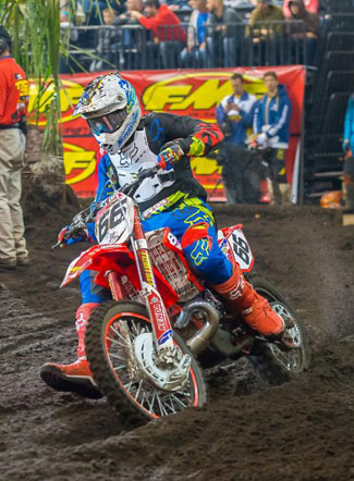 Ty Cullins races on the Beta factory EnduroCross squad an also holds a position on the National Trials team. PHOTO BY DREW RUIZ.