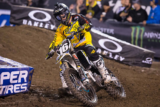 Zach Osborne rode a strong race and finished third in the 250 West main. PHOTO BY RICH SHEPHERD.